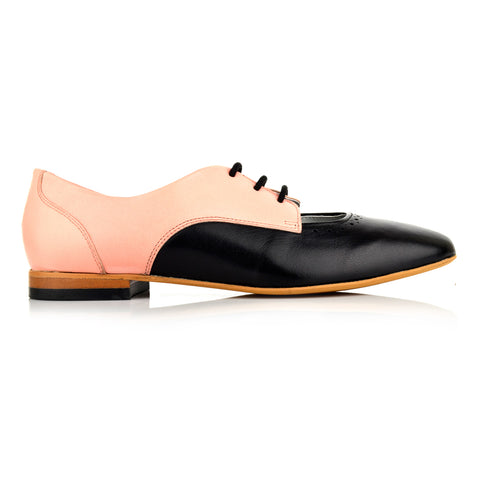 LW110 - Language Norwich Women's Casual Pink Derby Shoes