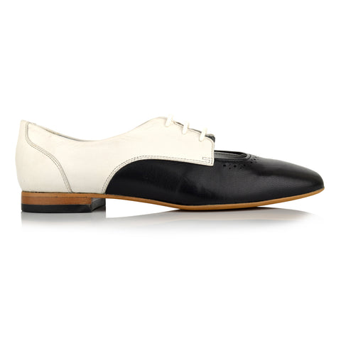 LW110 - Language Norwich Women's Casual White Derby Shoes