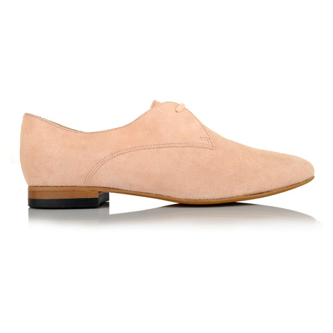 LW111 - Language Derby Shoes Women's Casual Nude Derby Shoes