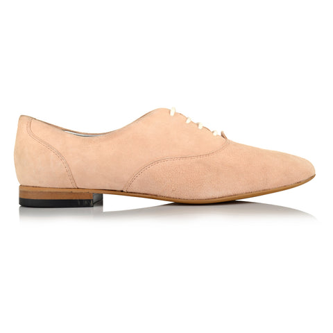 LW112 - Language Oxford Shoes Women's Casual Nude Oxford Shoes