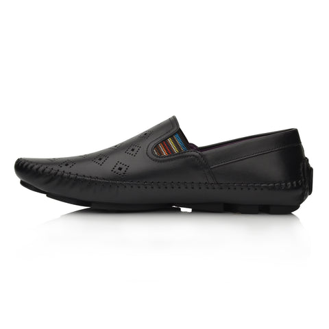Lm064 Language Drake Men's Black Casual Loafers