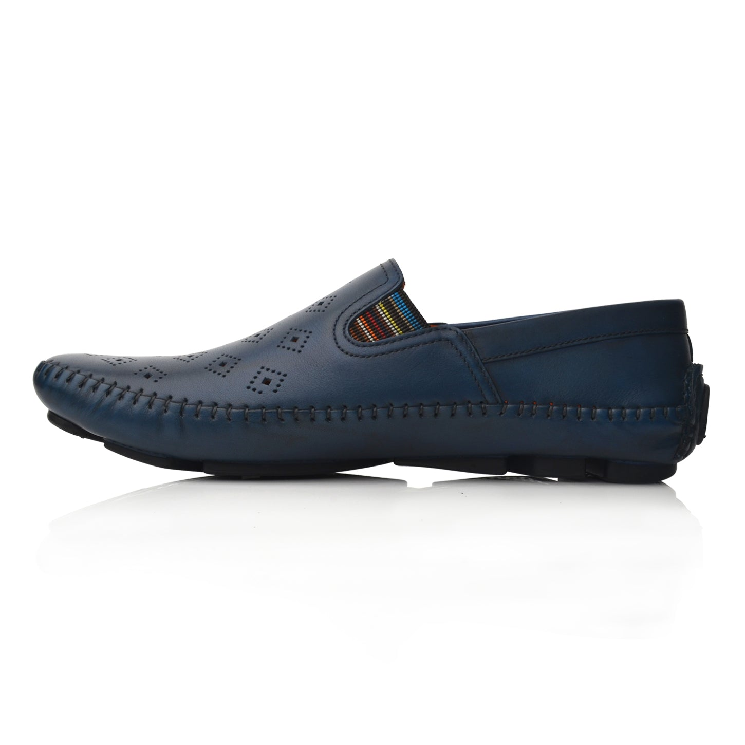 Lm064 Language Drake Men's Blue Casual Loafers