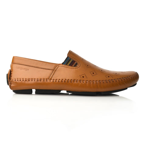 Lm064 Language Drake Men's Tan Casual Loafers