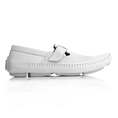 Lm065 Language Dwayne Men's White Casual Loafers