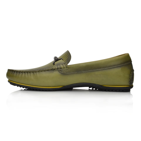 Lm1050 Language Jason  Men's Green Casual Loafers