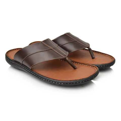 LM620 Language ZOE Men's Brown Casual Slippers