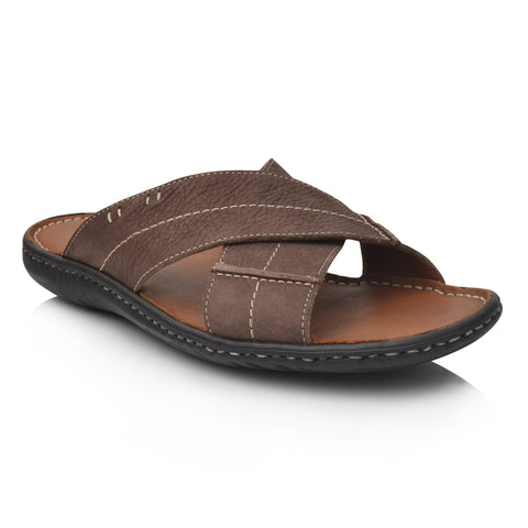 LM621 Language GRAVITY Men's Brown Casual Slipper