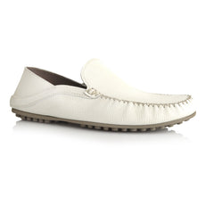 LM595 - Language Men's Udobe White Casual Moccasin