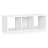 3 Cubby Stackable Storage Bench - Natural White