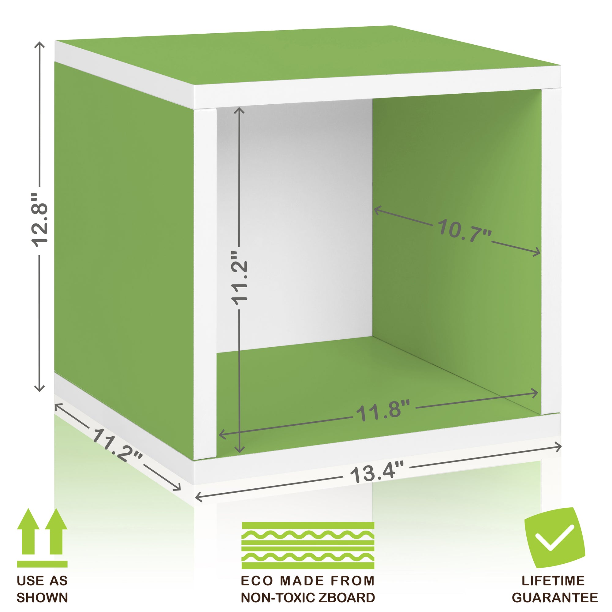 Enjoyable Storage Cubes In Green And Stackable Cubby Bookcase Way Basics Download Free Architecture Designs Jebrpmadebymaigaardcom