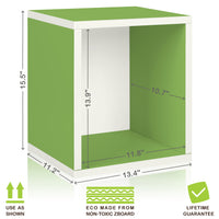green bookshelves, green storage cubes, green cube storage, green cubbies, green cubby storage, green storage cube, green cube bookcase, green stackable storage cubes