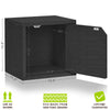 Connect 3 Cube Doors, Black