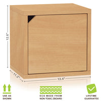 Connect 3 Cube Doors, Natural