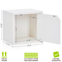 Connect Door Cube, White
