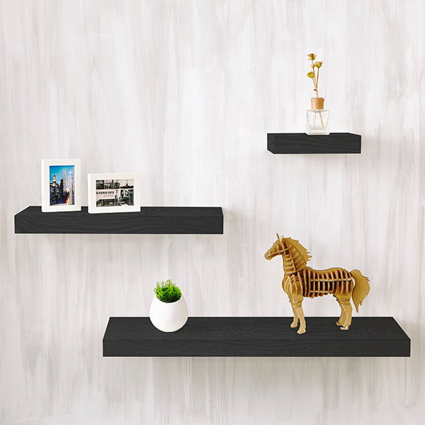 wall shelves 24 black floating shelves way basics rh waybasics com black decorative shelves for living room black decorative floating shelves