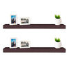 "2 Pack Wall Shelf 24"", Espresso"