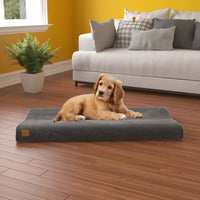 Pup Pup Kitty Bliss Orthopedic Breatheable Pet Mat with NoFom cushion technology Large, Grey