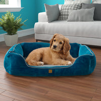 Pup Pup Kitty Heavenly Orthopedic Pet Lounger with NoFom cushion technology Medium, Blue