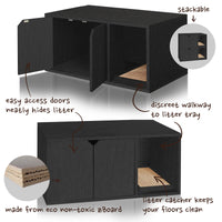 Cat Litter Box Furniture, Black