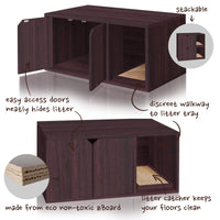 Cat Litter Box Furniture, Espresso (pre-order ships 9/9)