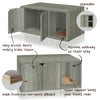 Cat Litter Box Enclosure, Grey
