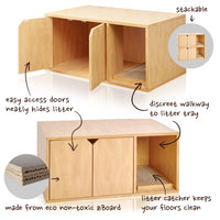 Cat Litter Box Furniture, Natural