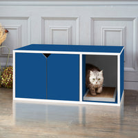 Cat Litter Box Enclosure, Blue (pre-order ships 10/19)