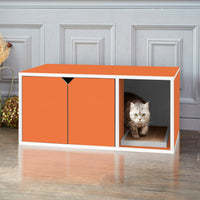 Cat Litter Box Enclosure, Orange