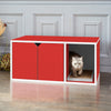 Cat Litter Box Enclosure, Red