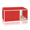 Cat Litter Box Enclosure, Red (1 unit left!)