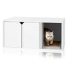 Cat Litter Box Enclosure, White