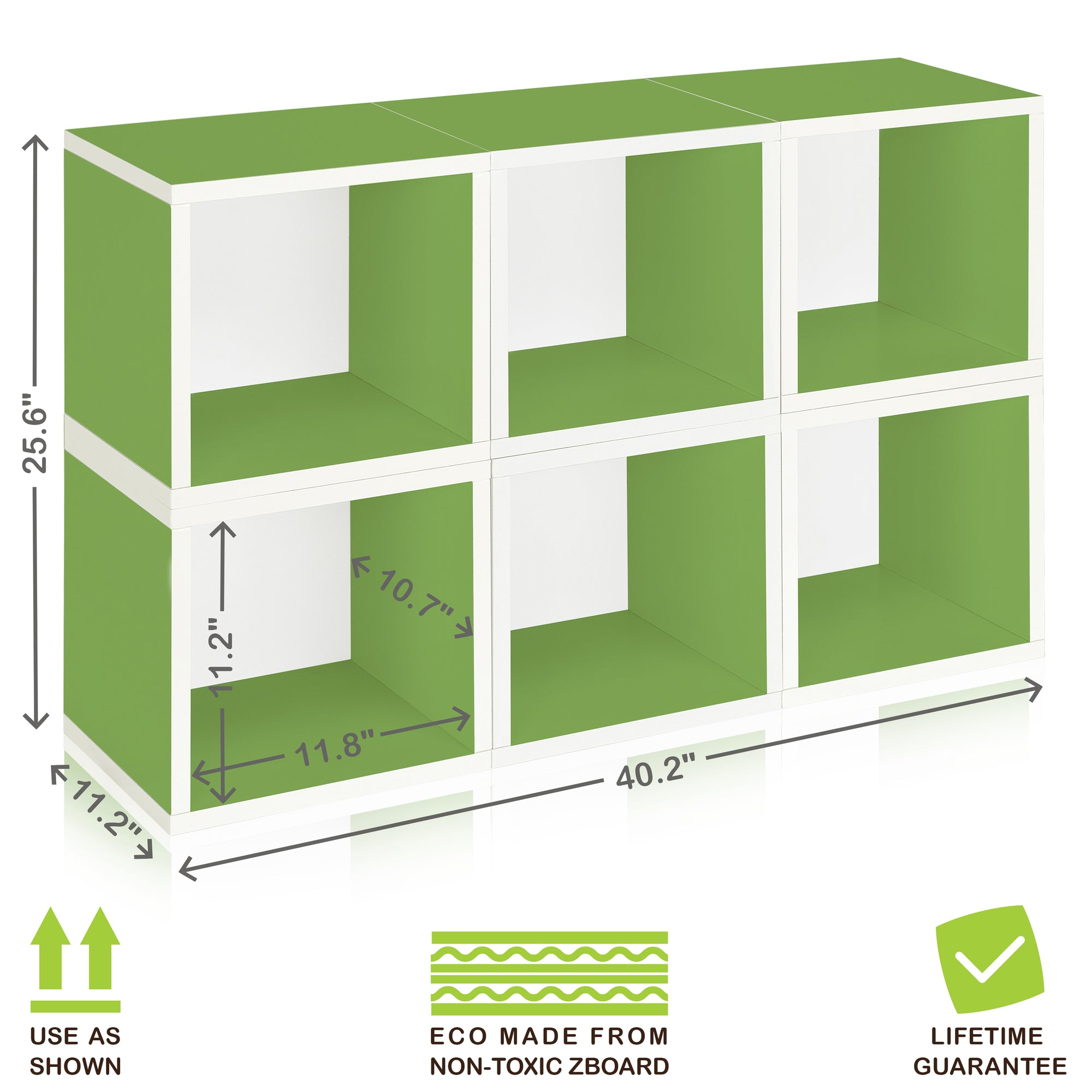 Pleasing 6 Stackable Storage Cubes Green And Modular Cube Bookcase Download Free Architecture Designs Embacsunscenecom