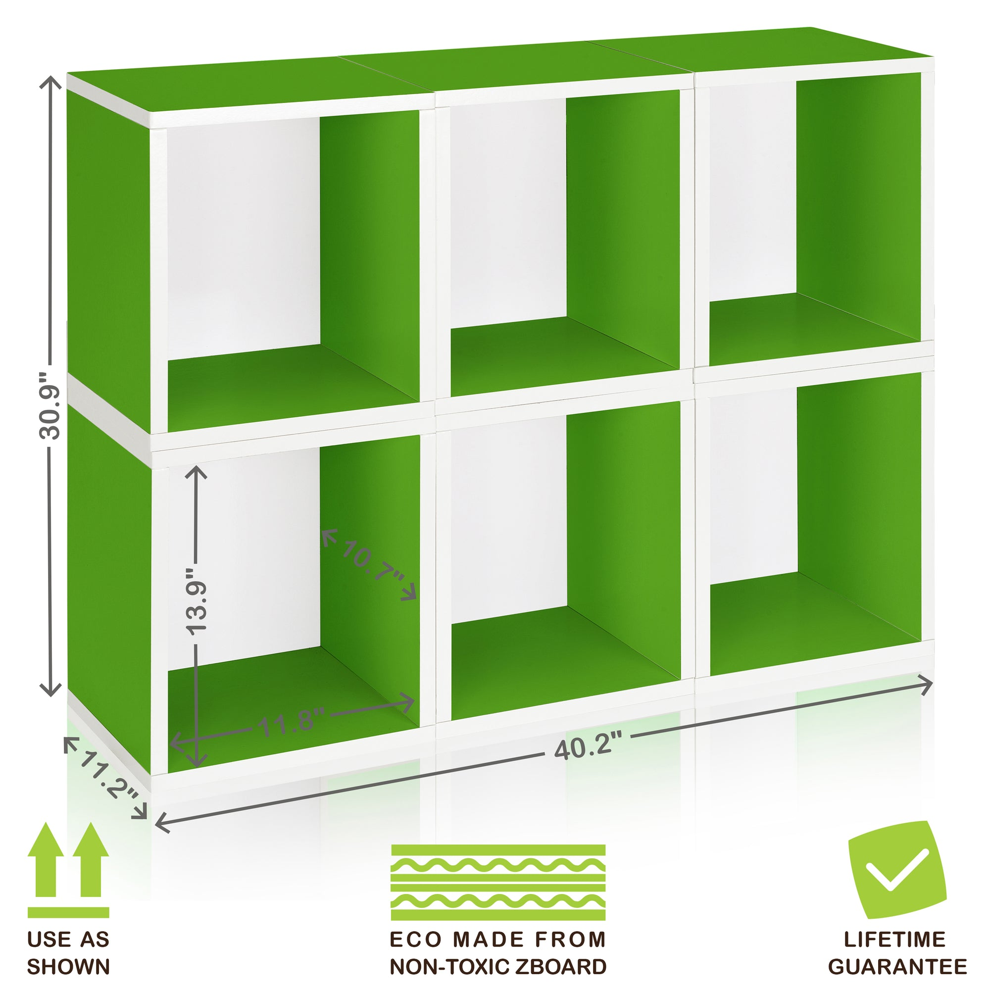 Astounding 6 Stackable Cube Storage Green And Modular Cube Bookcase Download Free Architecture Designs Jebrpmadebymaigaardcom
