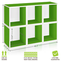 green bookshelves green storage cubes green cube storage green cubbies green cubby  sc 1 st  Way Basics & 6 Stackable Cube Storage Green and Modular Cube Bookcase - Way Basics