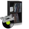 Vinyl Record Cube 2 Shelf, Black