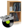 Vinyl Record Cube 2 Shelf, Natural (pre-order ships 12/16)