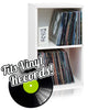 Vinyl Record Cube 2 Shelf, White (pre-order ships 1/28)