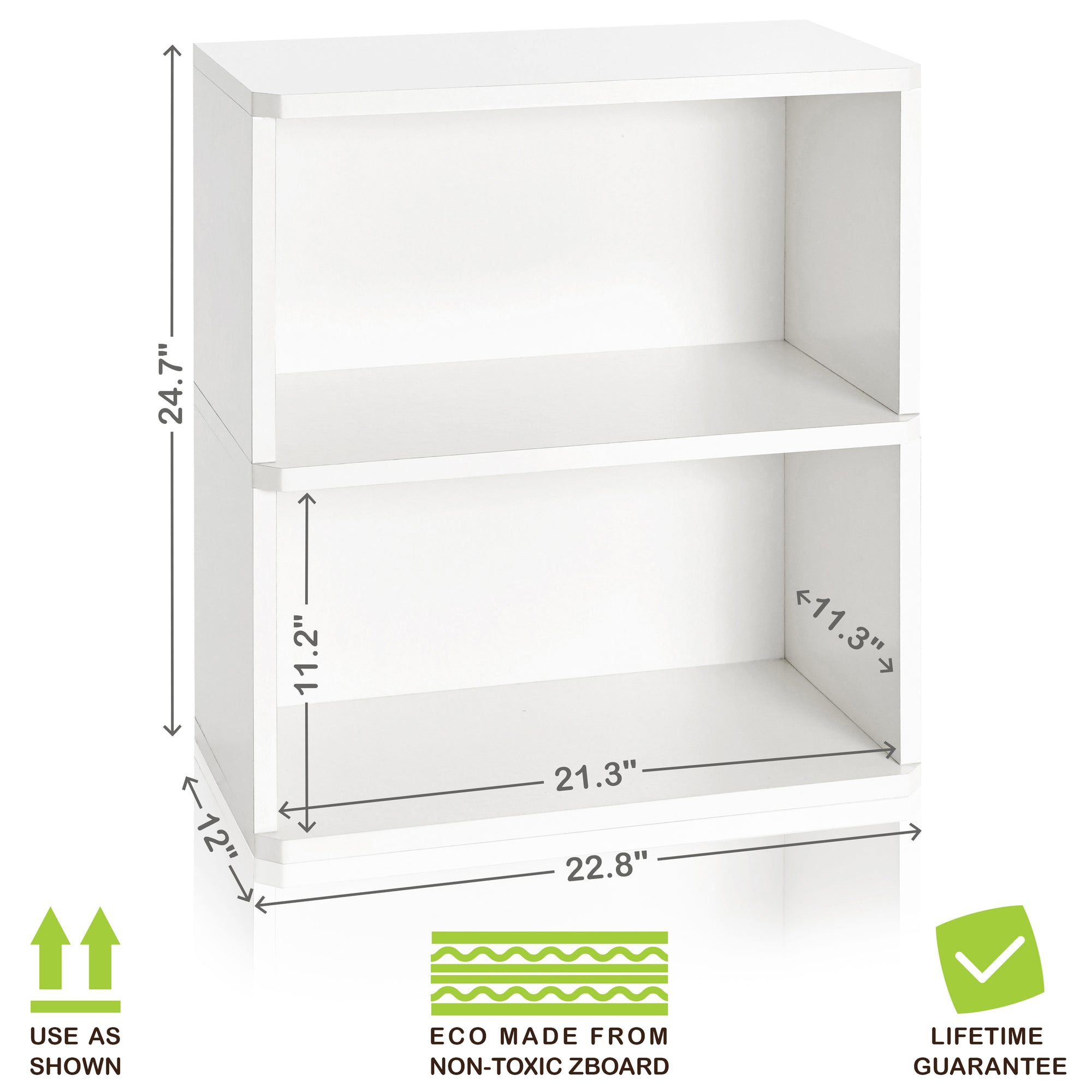 Bon White Bookshelf, White Bookcase, White Bookcases, White Bookshelves, White  Storage Shelves,