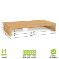 natural stackable desktop shelf, natural desk organizers, natural desktop shelving, natural monitor stand, natural monitor riser, natural display riser, natural display stand, natural computer riser, natural computer stand