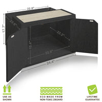 Cat Litter Enclosure, Black