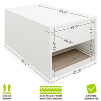 Cat Litter Sidetable, White (1 unit left!)