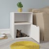 Cat Litter Box Duplex, White