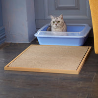 natural cat litter mat, natural eco cat litter mat, natural cat litter box mat