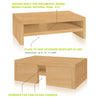 2-Shelf Monitor Stand, Natural
