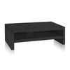 2-Shelf Monitor Stand, Black