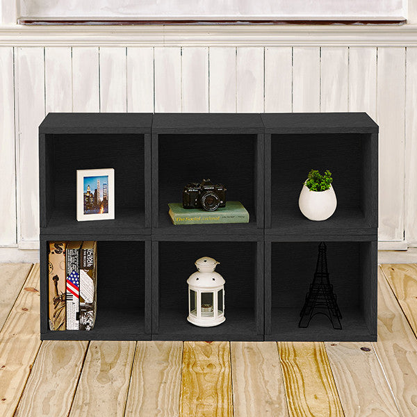 Black Bookshelves, Black Storage Cubes, Black Cube Storage, Black Cubbies,  Black Cubby