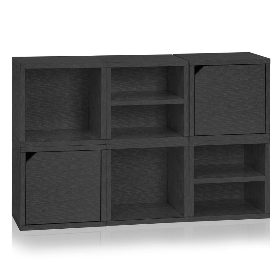 Black Bookshelves Storage Cubes Cube Cubbies Cubby