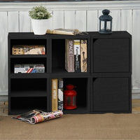 black bookshelves, black storage cubes, black cube storage, black cubbies, black cubby storage, black storage cube, black cube bookcase, black stackable storage cubes,