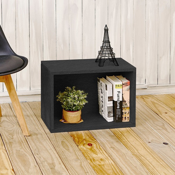 Black Rectangle Storage Cube Stackable Cubes And Shelving Way Basics