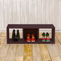 3 Cubby Stackable Storage Bench - Espresso